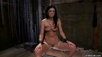 Milf slave is made to fuck big dick