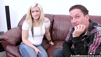 AdultMemberZone - Blonde's First Time in Front of a Camera