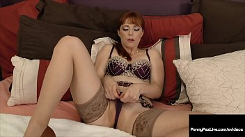Redheaded Horny Penny Pax Stuffs Her Warm Mouth & Pink Pussy