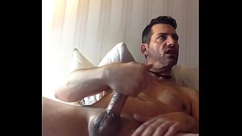 Jacking off to some dirty porn and cumming hard