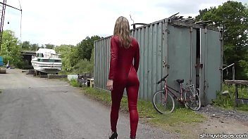 Asian catsuit doggystyle Walk on the wild side with catsuited alina long