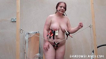 Bizarre fat slave punishment and homemade tools bdsm of chubby RosieB in extreme preview image