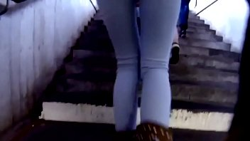 Candid Ass in tight jeans