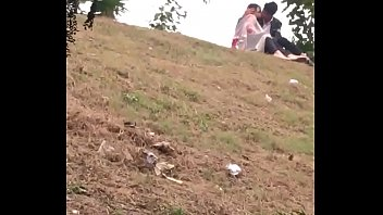 Indian lover kissing in park part 3