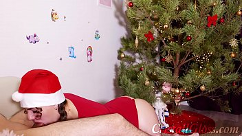 10852 MILF Blowjob and Riding on Huge Dick Closeup for Christmas preview