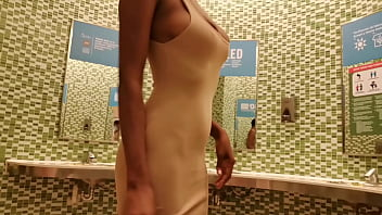 Ebony Caught Masturbating in the Public Toilet 3