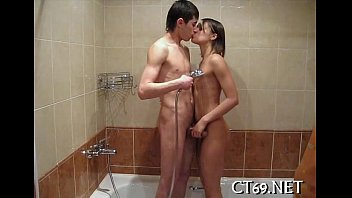 Legal age teenager fucking action with a chick