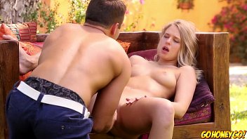 Young blonde finger fucked then pounded by big cock 7 min
