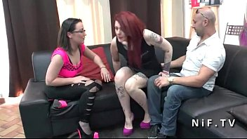 Anal Casting Couch Of A Sexy French Emo Redhead Slut With Small Tits