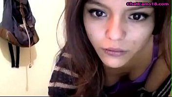 amazing cute teen latina bating with screwdriver on webcam