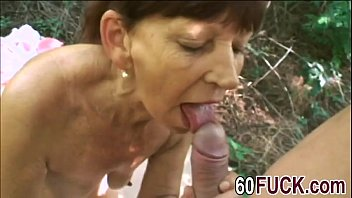 Mature woman over 60 loves fucking outdoors