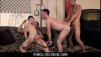 Dad gay kiss son Two hot step dads swap fuck jock and twink step sons