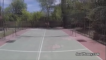 Tennis and fuck lessons for busty teen