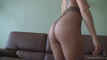 World without pantyhose Blonde in nylons teasing on webcam