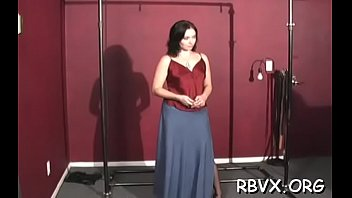 Nipp torture and vibrator play for ballgagged whore
