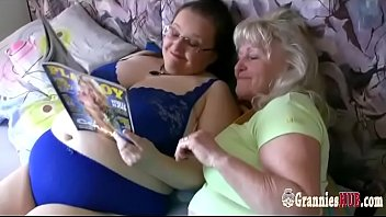 Old Blonde Granny And Busty BBW MILF Are Lesbians