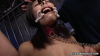 Racy brunette, Yayoi Yanagida is deepthroating balls deep and moaning