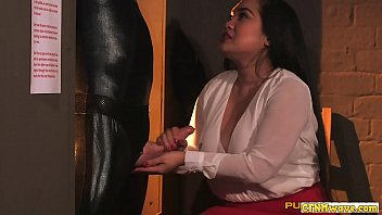 Cfnm wanks restrained sub before swapping