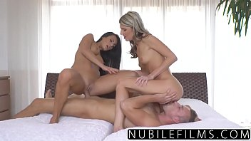 NubileFilms - Passionate Threeway Makes BFF Squirt Preview