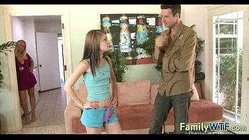 Husband and wife fuck the babysitter 689