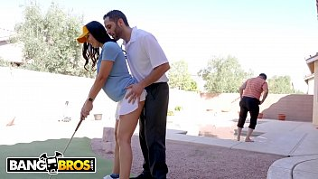 BANGBROS - Rachel Starr Fucks Golf Instructor Behind Her Husband's Back!