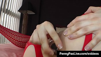 Redhead Penny Pax Butt Fucked & Squirts in Body Stocking!