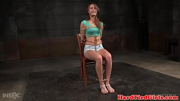 Humiliated submissive babe getting toyed
