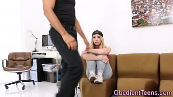 Dominated teen pounded