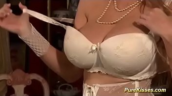 lesbian Milfs with real monster boobs