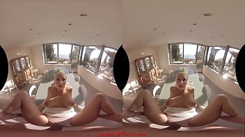 Busty Blonde Fucked on a Table | VR Porn from MobileVRxxx.com