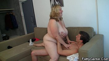 Fat tits bbw - Big tits blonde rides him
