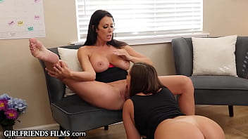 Babes At Work Pull Down Their Nylons & Scissor In The Office - GirlfriendsFilms