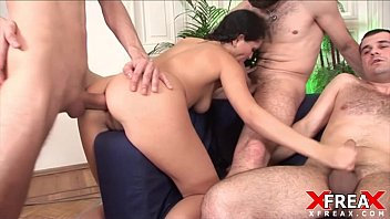 Double vagianl penetration Gang bang and double anal penetration for juliana grandi