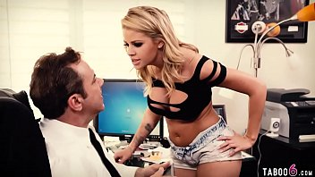 Raging guy fucks a sexy blonde babe hard in his office Preview