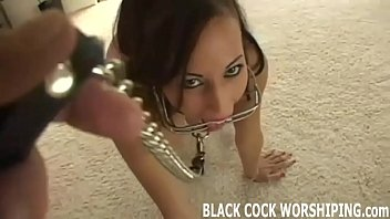 Tonight I finally get a taste of some big black cock