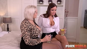 Busty BFFs Angel Wicky & Sofia Lee Ride a Rod and Each Other thumbnail