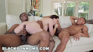 BLACKS ON MOMS - Interracial Threesome With MILF Chanel Preston And Two Black Studs