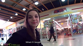 Teen girls at mall Mallcuties - reality teen fucked for clothes - public reality