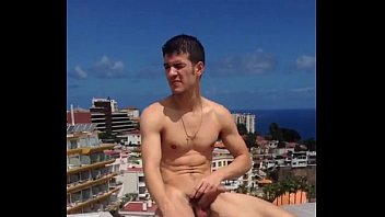 Guy nude and hart in hotel pool Tenerife I.mp4