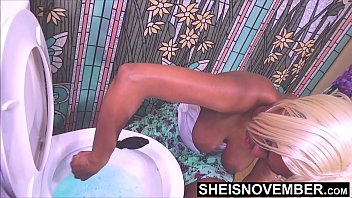 Naked woman large nipples - High out of my fucking mind, why am i cleaning this damn toilet with my huge natural saggy titties hanging out, ebony gamer msnovember on sheisnovember