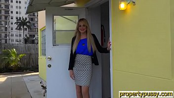Teen property manager with big tits bangs her client thumbnail