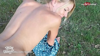 MyDirtyHobby - German MILF blows twice and creampied outdoors