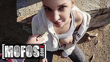 Russian Babe (Henessy) Gets Fucked On a Pov Camera In Public Gets Cum In Her Mouth - MOFOS