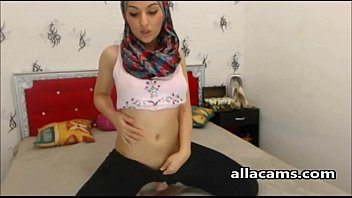 Sexy hijab on webcam