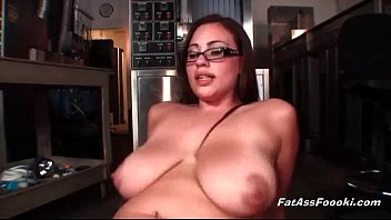 Chubby Latina rides big black cock