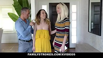 Family Strokes - Hot Teen Lets Stepdad Cum On Her Bush