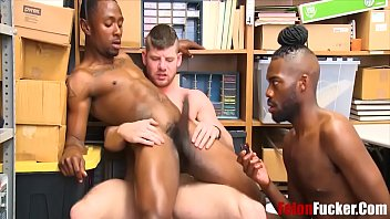 Black gay cocksuckers porn - Black cop forces two straight boys to fuck him for stealing