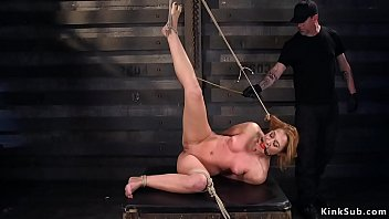Hogtie redhead Hogtied redhead babe caned and whipped