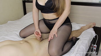 Teen Step Sister With Big Tits Cowgirl Handjob In Pantyhose