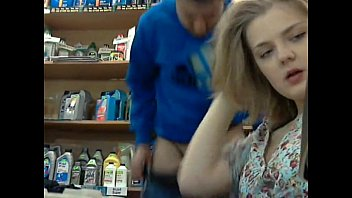 Russian teen swallow thumbnail Blowjob in store 1
